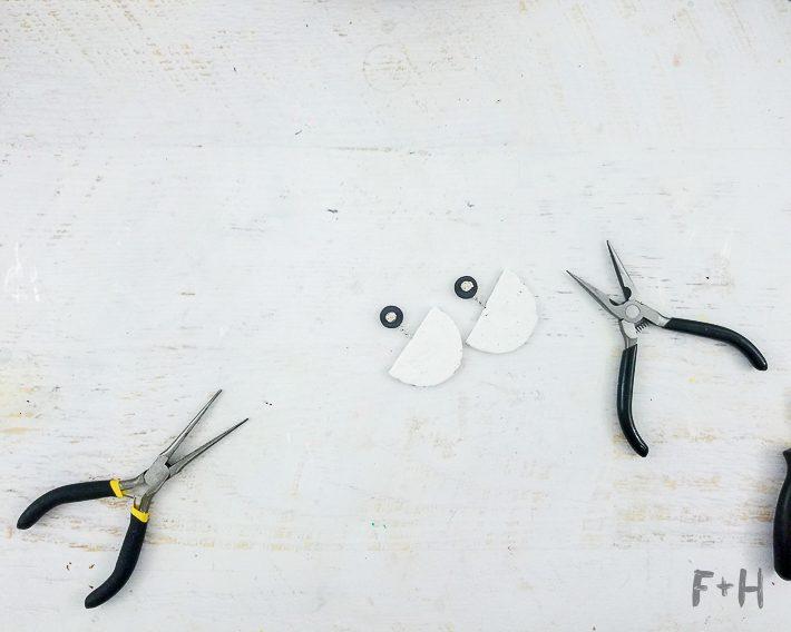 faux terrazzo statement earrings