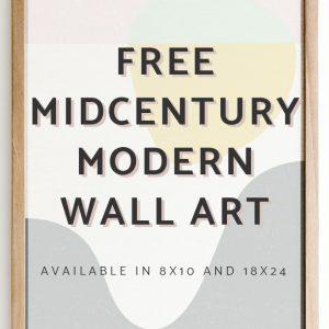 Free Mid Century Modern Wall Art - Fox + Hazel 4