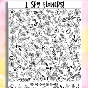 flower i spy printable