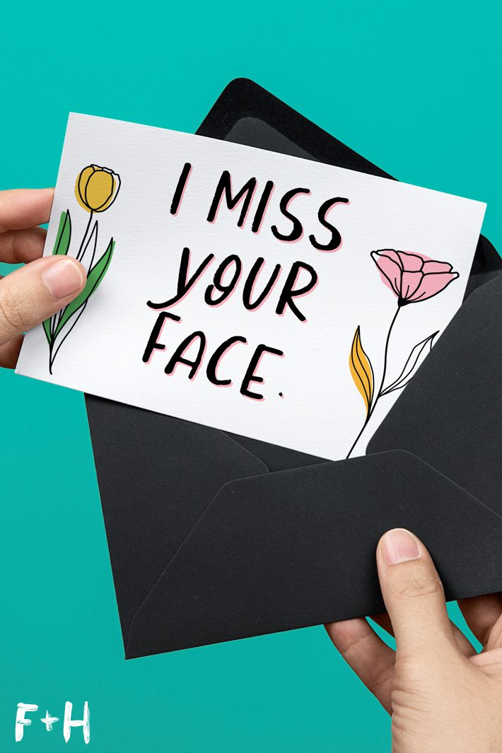 thinking of you printable card