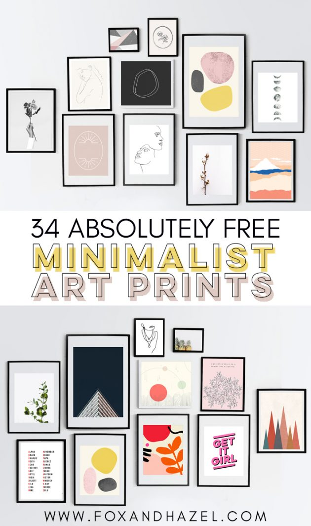 minimalist art prints round up