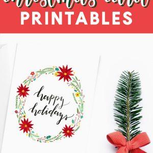 happy holidays christmas card printable