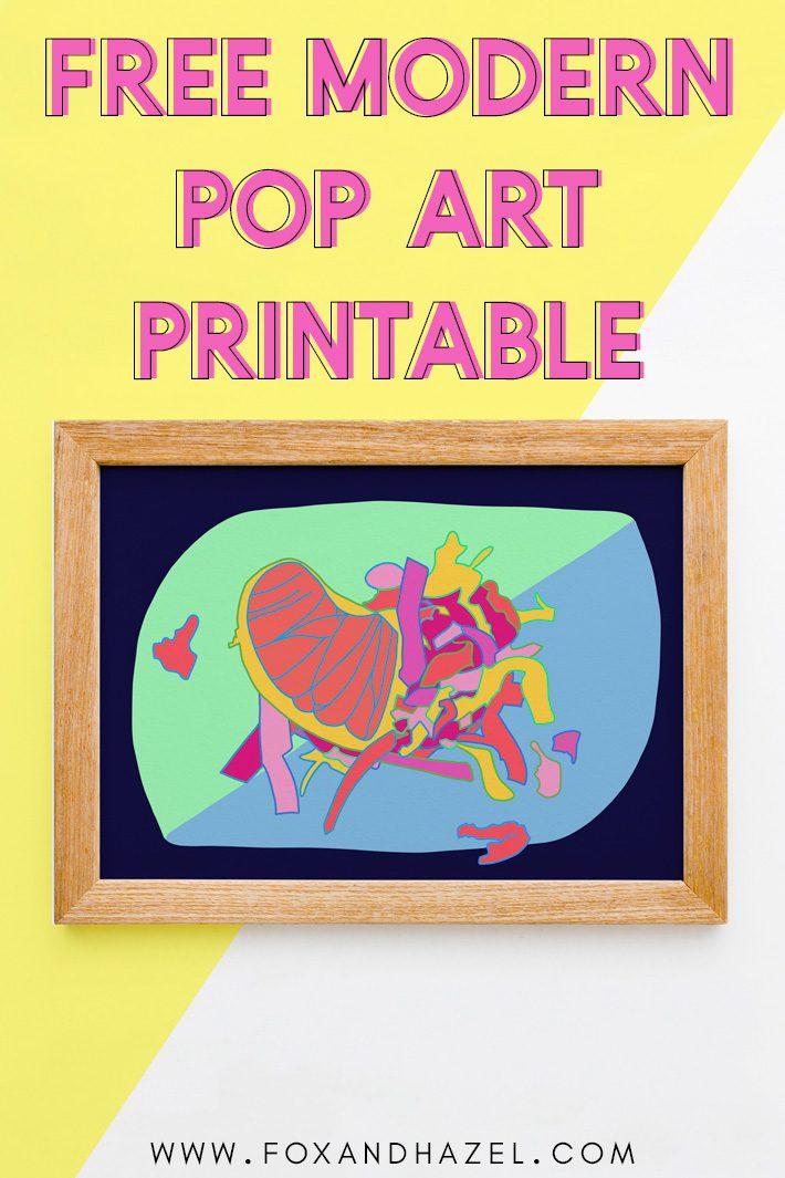 modern pop art printable