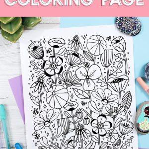 spring coloring printable