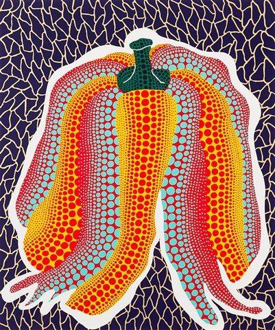 """artwork """"Pumpkin"""" by artist Yayoi Kusama"""